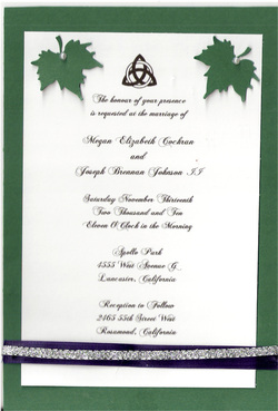 Printed Pagan Wedding Invitation Invitations Scarlet Rose Creations